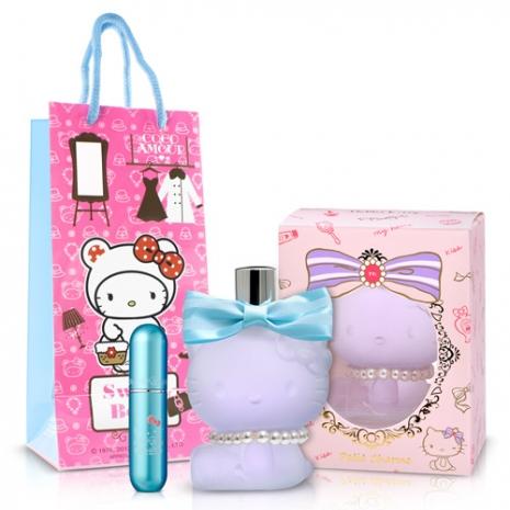 Hello kitty Coco Amour 粉藍貝貝女性淡香精(70ml)-送Kitty限定聯名款香水攜帶瓶&紙袋