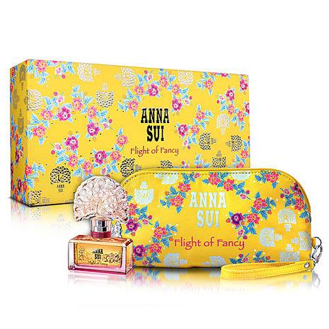 Anna Sui 安娜蘇 逐夢翎雀風采禮盒(淡香水30ml+手拿包)-送品牌針管&紙袋
