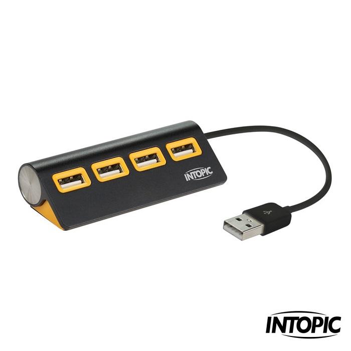 【INTOPIC】USB 2.0 4埠全方位鋁合金集線器 HB-23
