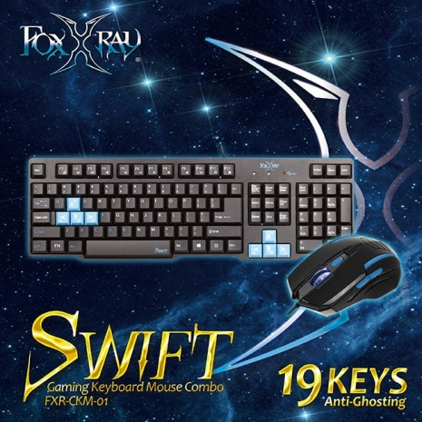 【FOXXRAY】迅疾戰狐電競鍵盤滑鼠組合包 FXR-CKM-01