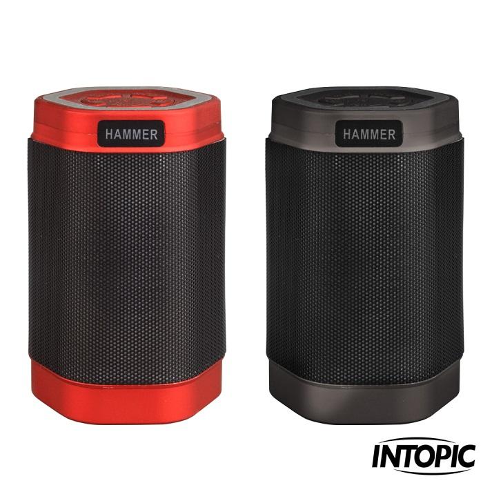 【INTOPIC】多功能炫彩LED藍牙喇叭 SP-HM-BT160尊爵灰
