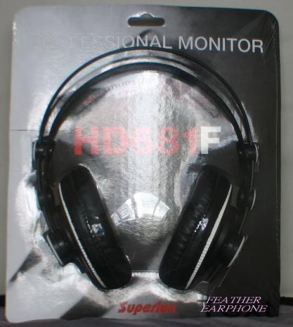 舒伯樂Superlux HD681F,人聲表現加強版 半開放式監聽耳罩式耳機,台灣總代理公司貨,附保卡保固一年