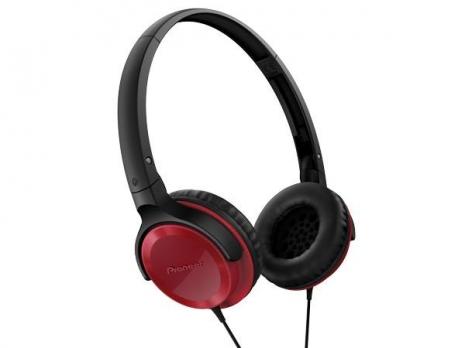Pioneer SE-MJ502 馬卡龍色系 迷你耳罩式耳機 (紅色) 公司貨附保卡保固一年