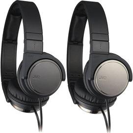 日本 JVC HA-S500 輕型頭戴耳罩折疊式立體聲耳機公司貨附保卡保固一年 銀