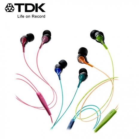 TDK CLEF-BEAM TH-BEC200 炫麗發光科技感耳機粉紅