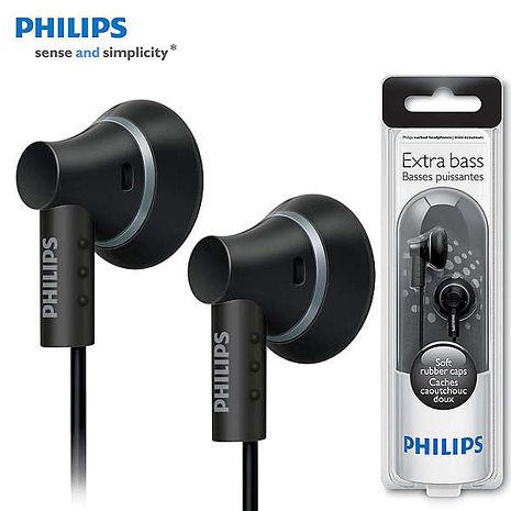 PHILIPS 飛利浦 SHE3000 黑色 重低音耳塞式耳機