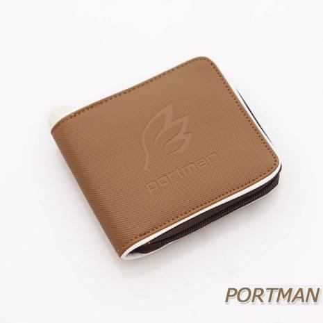 PORTMAN 天使之翼防水短夾(成熟褐)PM123714