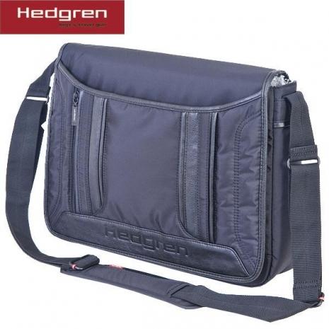 【HEDGREN】都會城市側背公事包 -黑色HCA03000BK