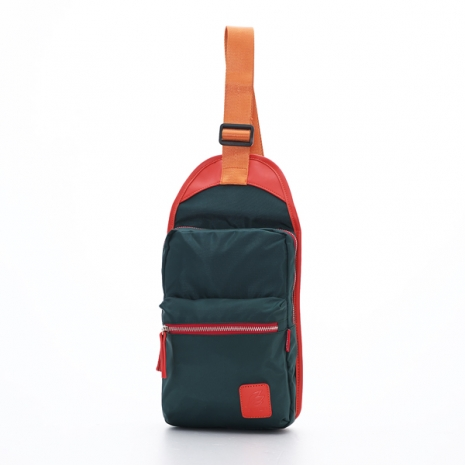 PORTMAN 時尚繽紛尼龍單肩包(深綠色) PM142126BG