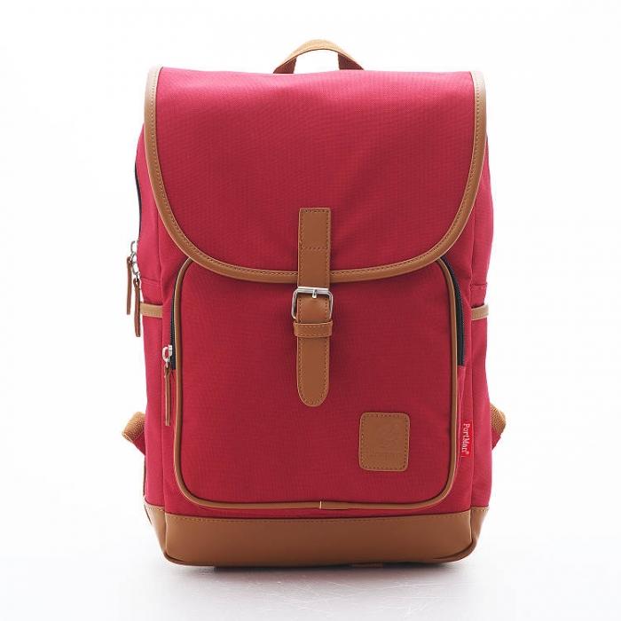 PORTMAN 學院風單釦後背包(紅色) PM142132