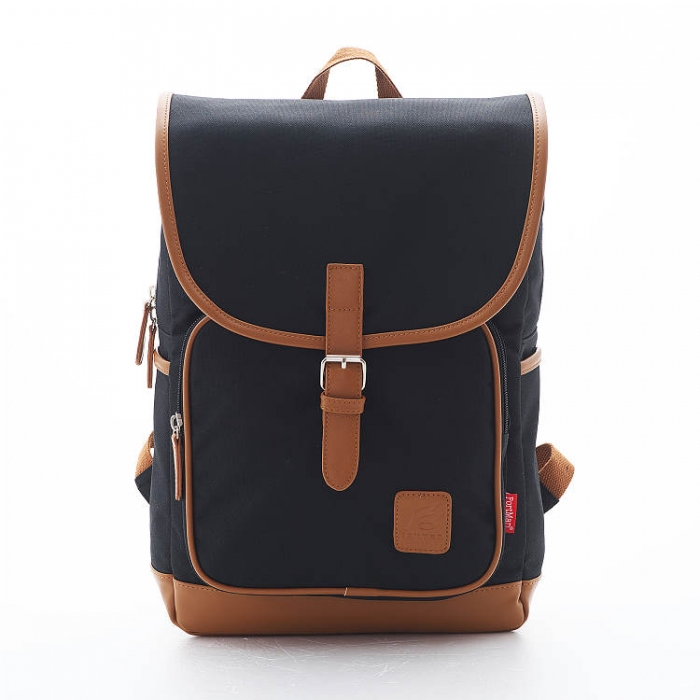 PORTMAN 學院風單釦後背包(黑色) PM142132