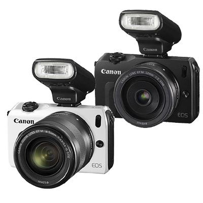 Canon EOS M+18-55mm變焦鏡組+90EX閃光燈(平輸中文) 白色