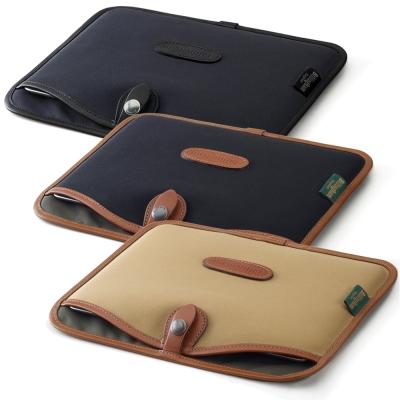白金漢 Billingham Laptop Slip 筆電專用袋/經典材質/15吋黑色/黑邊