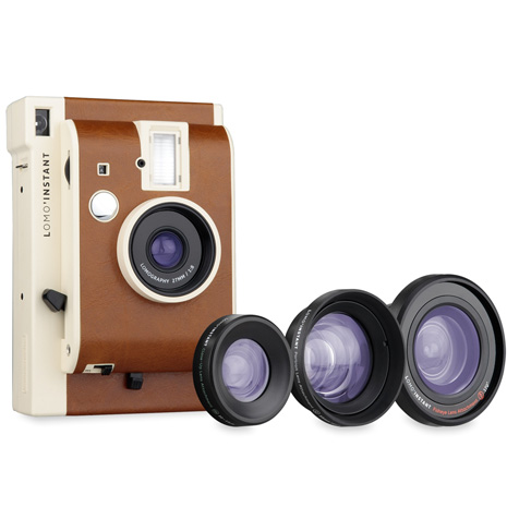 Lomography Lomo Instant 拍立得相機 三鏡組(公司貨)/棕色-送快門線+底片一盒(隨機)