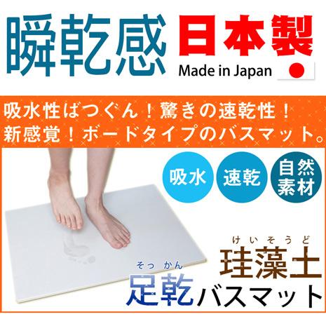 Fujiwara 珪藻土 素面款 足乾浴室腳踏地墊