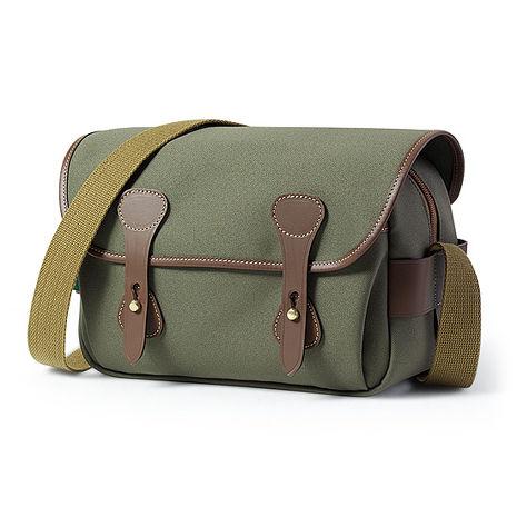 白金漢 Billingham S3 側背包/斜紋材質 綠色/巧克力色 501548-54