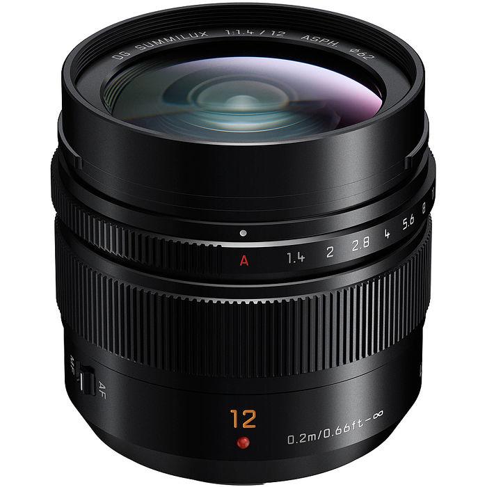 (公司貨)Panasonic LEICA DG SUMMILUX 12mm F1.4 ASPH. 大光圈定焦鏡頭-送TOKO保護鏡(62mm)+NISI拭鏡筆