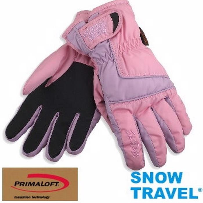 [SNOW TRAVEL]軍用SKY-DRY+PRIMALOFT-GOLD超保暖防水透氣手套/AR-57/粉色/M號