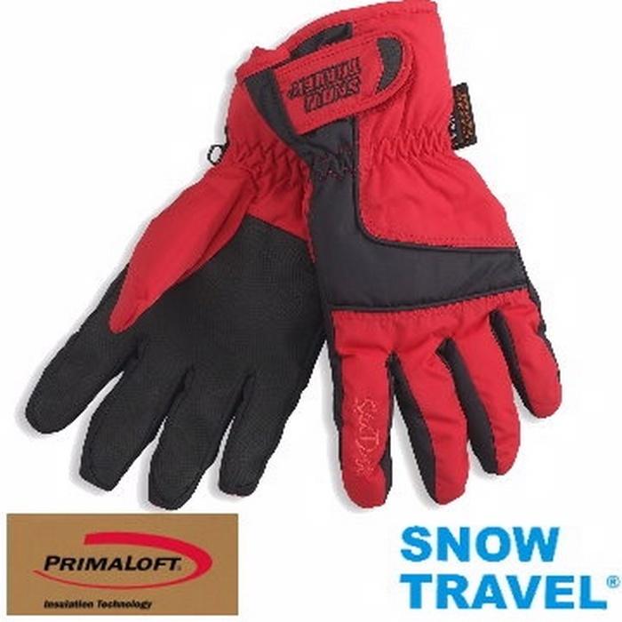 [SNOW TRAVEL]軍用SKY-DRY+PRIMALOFT-GOLD超保暖防水透氣手套/AR-57/紅色/M號