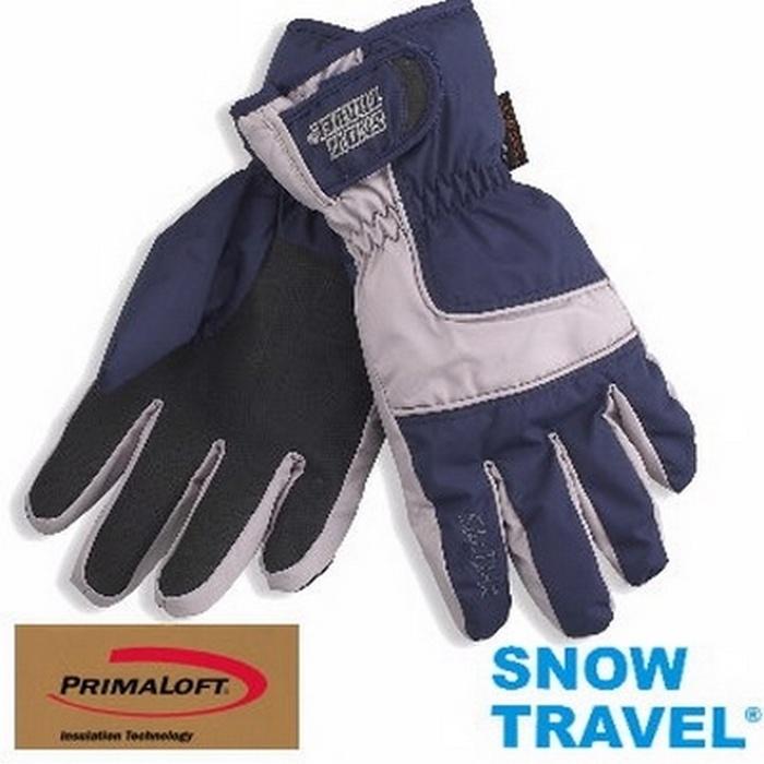 [SNOW TRAVEL]軍用SKY-DRY+PRIMALOFT-GOLD超保暖防水透氣手套/AR-57/藍色藍色L