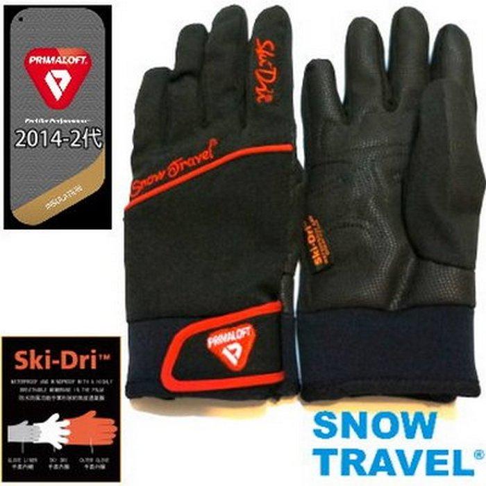 [SNOW TRAVEL] 軍用primaloft-gold+特戰SKI-DRI防水保暖合身型手套AR-67/黑色/日韓限量版黑色L