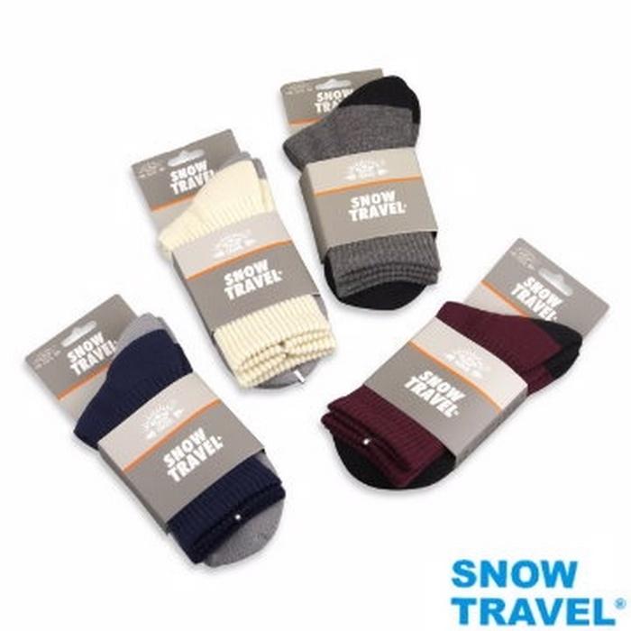 【SNOW TRAVEL】高級美麗諾羊毛襪AR-59 (1入) M號淺灰M