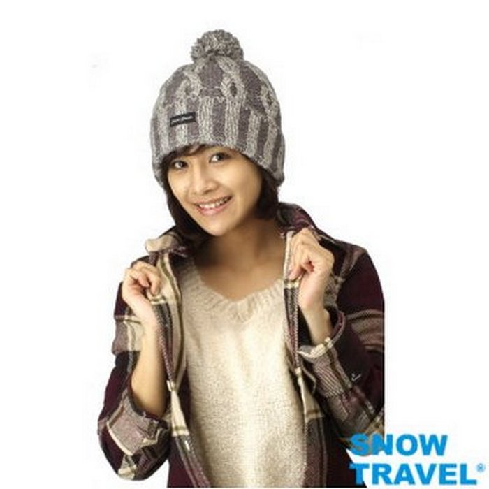 【SNOW TRAVEL】100%3M防風+美麗諾羊毛85%加厚3層羊毛帽 AR-60紫色