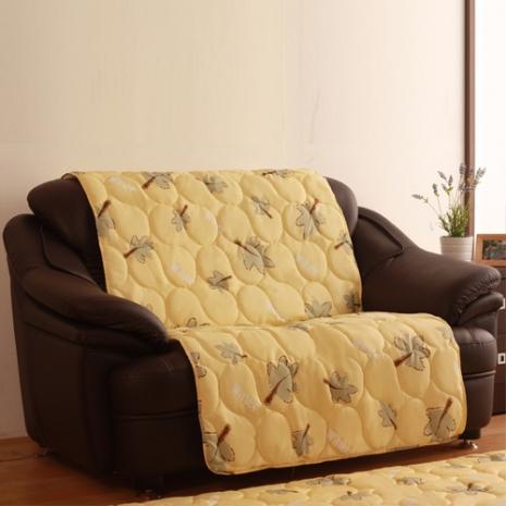 【HomaBeauty】馬卡龍3M防潑水沙發保潔墊-2人座-花漾黃