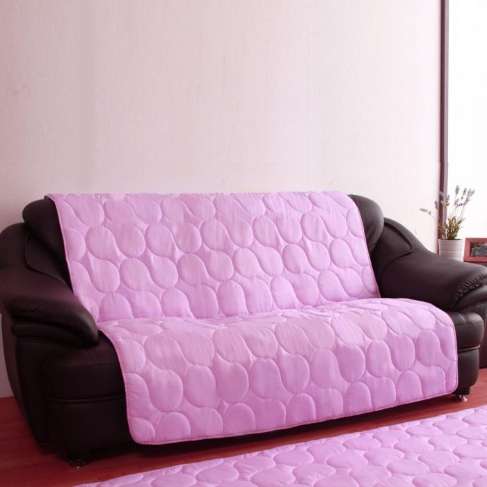 【HomaBeauty】馬卡龍3M防潑水沙發保潔墊-1+2+3人座-浪漫紫