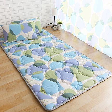 【ICEPAD】涼感精梳棉日式收納床墊-單人-桃心葉