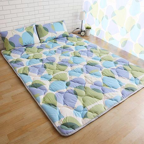 【ICEPAD】涼感精梳棉日式收納床墊-加大-桃心葉