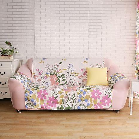 【ICE PAD】涼感精梳棉輕便型沙發保潔墊-1+2+3人座-蝶飛舞