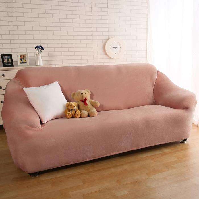 【HomeBeauty】頂級柔暖法蘭絨沙發罩-1+2+3人座-卡其色(1.1折)
