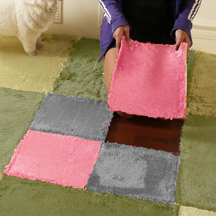 【HomeBeauty】隨心拼接珍珠絨地墊-30X30公分-單片-9色焦糖色
