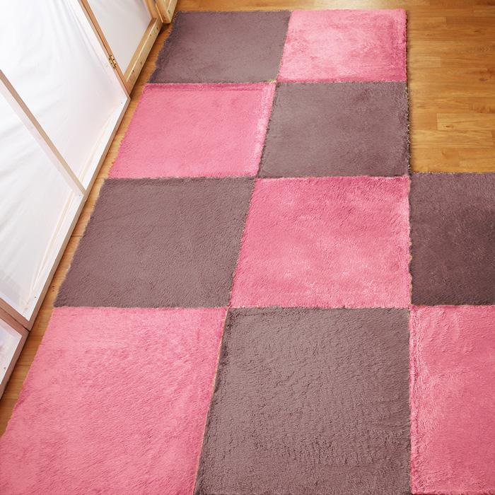 【HomeBeauty】隨心拼接珍珠絨地墊-30X30公分-八片-9色
