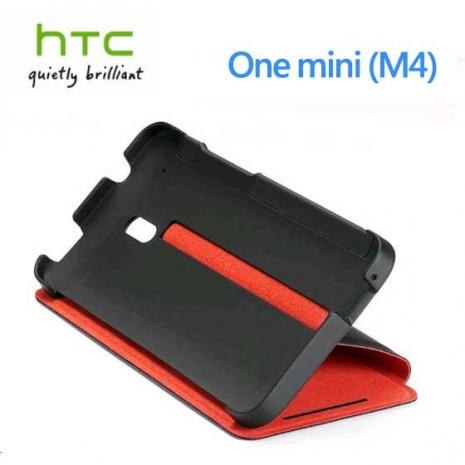【HTC原廠】One Mini / M4 側掀式保護套(HC V851)-手機平板配件-myfone購物