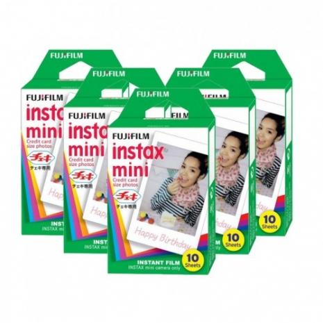 FUJIFILM instax mini 拍立得底片 空白底片5盒 (裸裝)