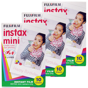 FUJIFILM instax mini 拍立得底片 空白底片3盒 (裸裝)