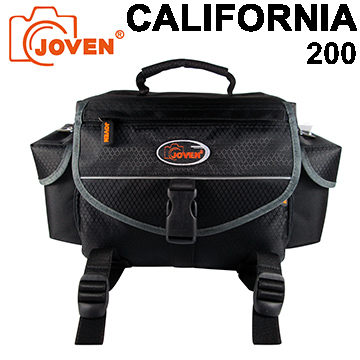 JOVEN 加州 CALIFORNIA 200 相機包 一機三鏡包 (附防雨罩)