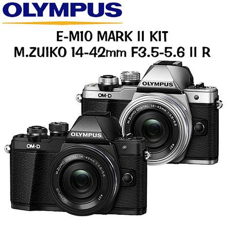 OLYMPUS OM-D E-M10 Mark II 14-42mm 2R 變焦鏡組 (公司貨)黑色