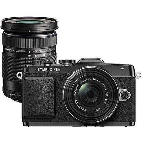 OLYMPUS E-PL7 14-42mm EZ+40-150mm雙鏡鏡組(公司貨)黑色