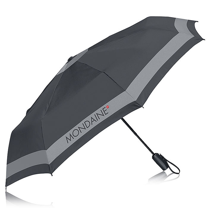 MONDAINE 瑞士國鐵晴雨兩用自動傘-深灰