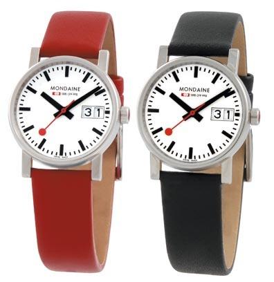MONDAINE 瑞士國鐵時光走廊腕錶/30mm-紅/黑錶帶 任選(66911S)黑錶帶