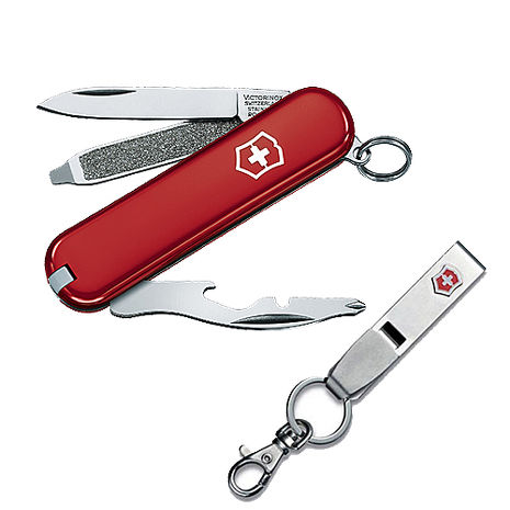 VICTORINOX 瑞士維氏9用瑞士刀+不鏽鋼鑰匙圈 06163+41858