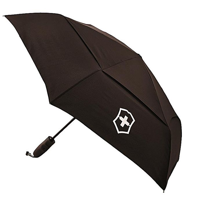 VICTORINOX 瑞士維氏TA 4.0 鈦金屬防風自動雨傘-黑 31170701