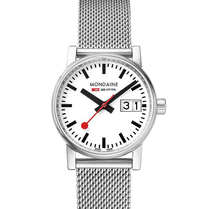 MONDAINE 瑞士國鐵evo2時光走廊腕錶-30mm/米蘭鋼鏈 30210SM
