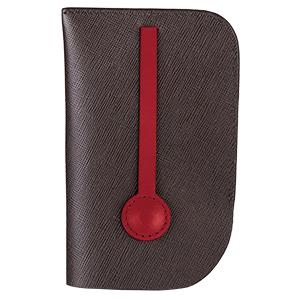 MONDAINE 瑞士國鐵隱藏式拉環牛皮鑰匙包-十字紋咖啡 【員購】