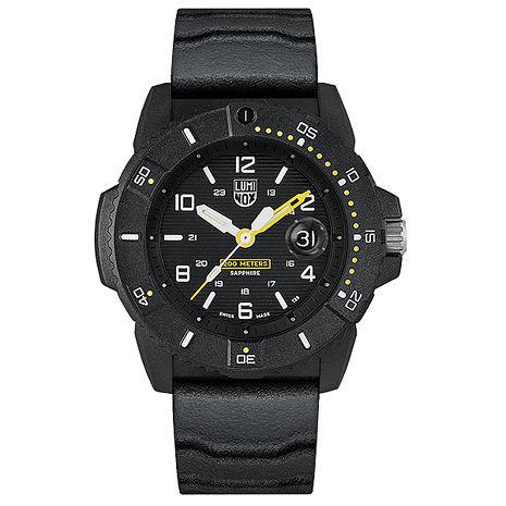 LUMINOX 雷明時NAVY SEAL 3600 海豹部隊腕錶 – 黑黃 / 45mm A3601 【APP】