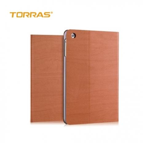 【TORRAS】APPLE iPad Mini2/Mini3 圖拉斯 森系列皮套 立架 智能休眠 喚醒 防摔 散熱楓林紅