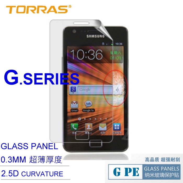 【TORRAS】Samsung i9100 Galaxy S2 防爆鋼化玻璃貼 G PE 系列 9H硬度 超薄日本AGC玻璃 2.5D弧面切割